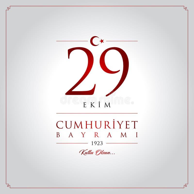 29 ekim cumhuriyet bayrami Vektorillustration stock abbildung