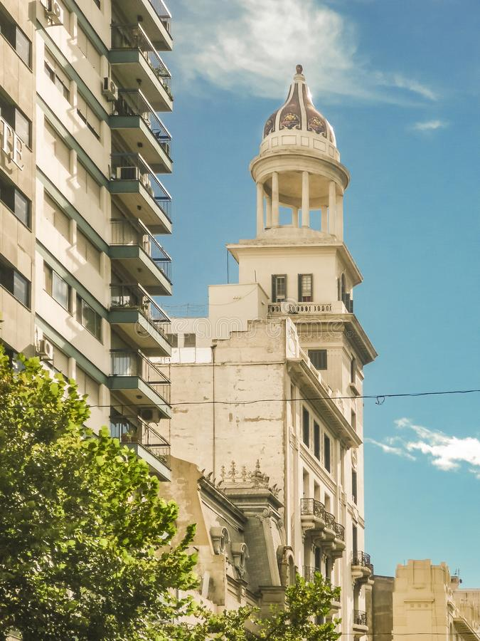 Eklektiska stilbyggnader, Montevideo, Uruguay royaltyfri foto