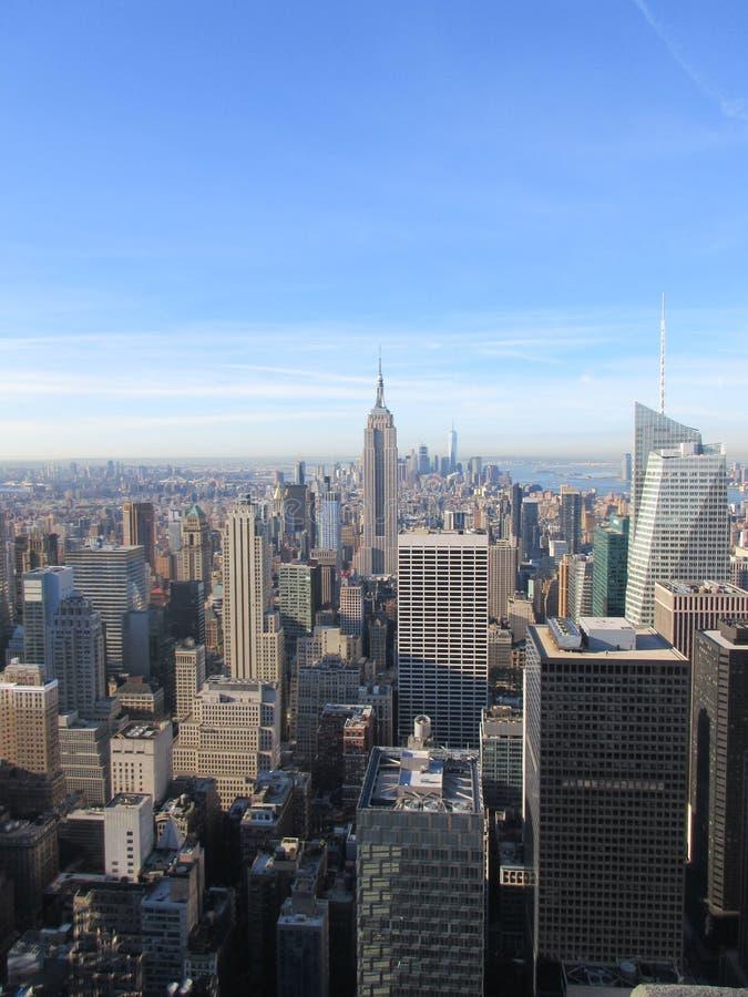 Eklektyzm NYC linia horyzontu obraz royalty free
