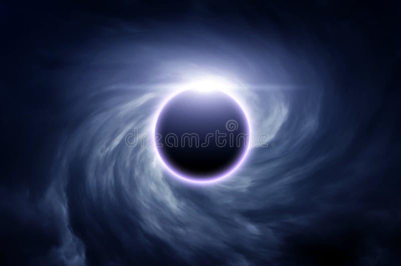 Eklipse in den Wolken lizenzfreie stockfotografie