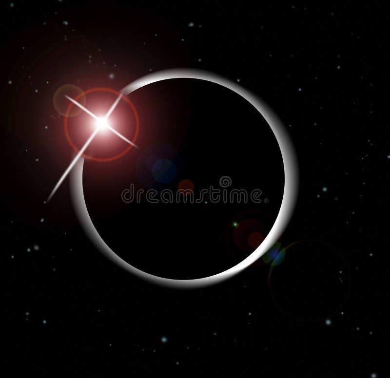 Eklipse der Sonne lizenzfreie abbildung
