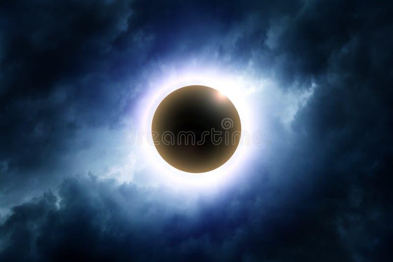 Eklipse der Sonne lizenzfreie stockfotos