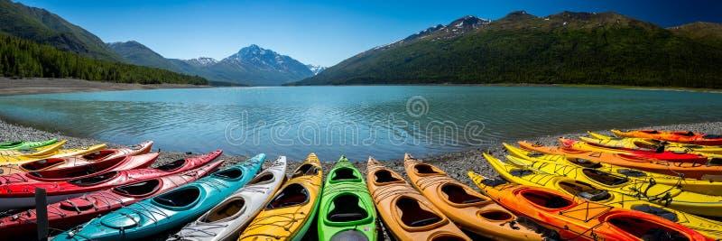 Eklutna湖在阿拉斯加 免版税库存图片