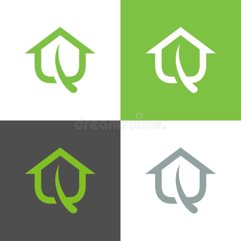 Eko-bladserverns logotyp, grön bladserversymbol - vektor vektor illustrationer