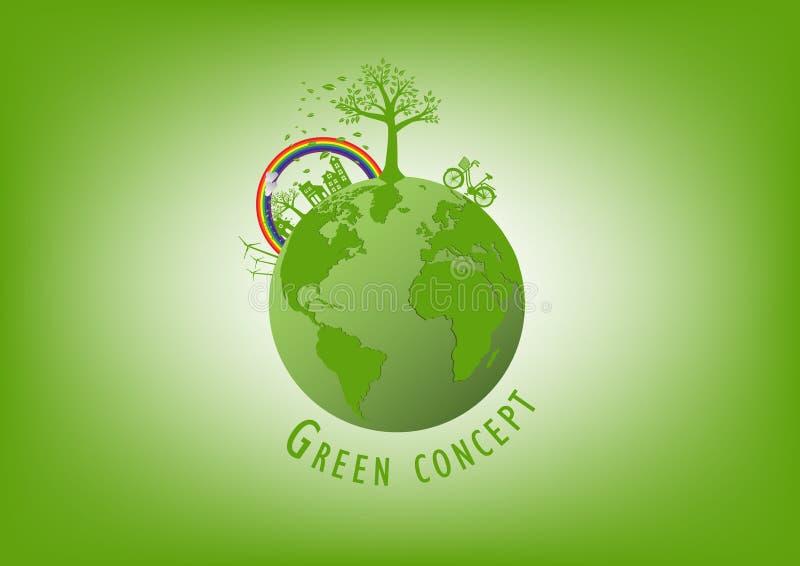 Ekologi miljöbegrepp för hed jorden vektor illustrationer