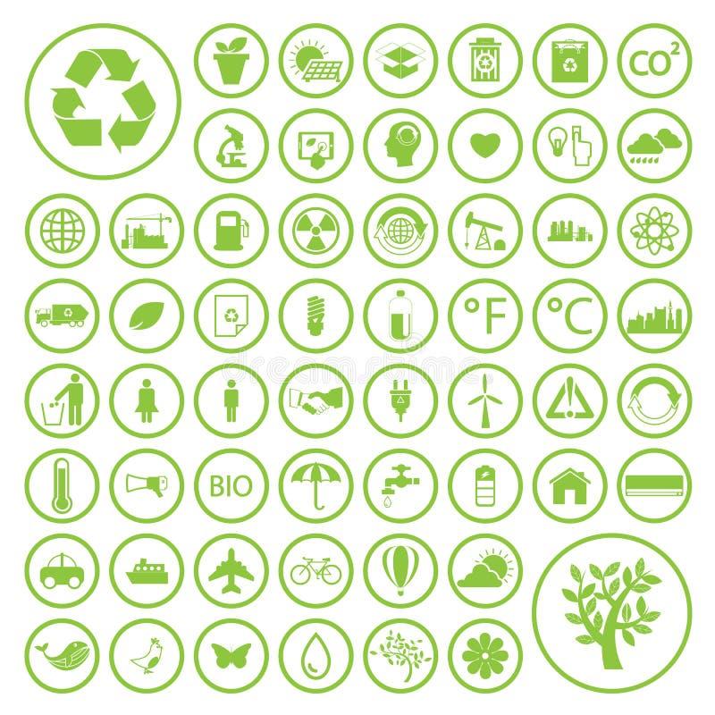 Ekologi och återanvänder symboler, vektorn eps10 royaltyfri illustrationer