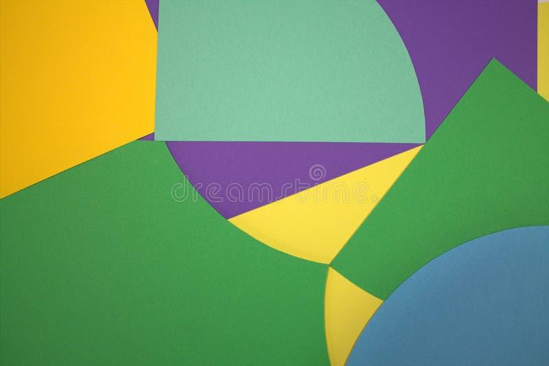 Ekologia świat Czyste powietrze, woda Papierowi kolory nowy styl Oryginalny projekt Pastelowi cienie zdjęcia stock