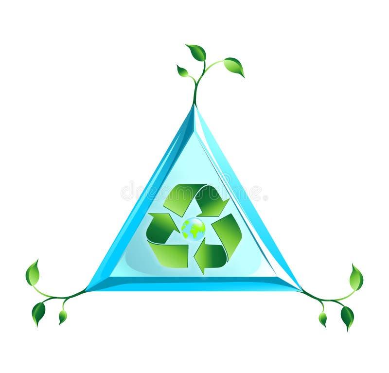 Ekologia światowy logo w wektorze ilustracji