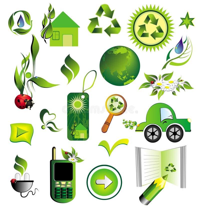 ekologia duży set ilustracja wektor