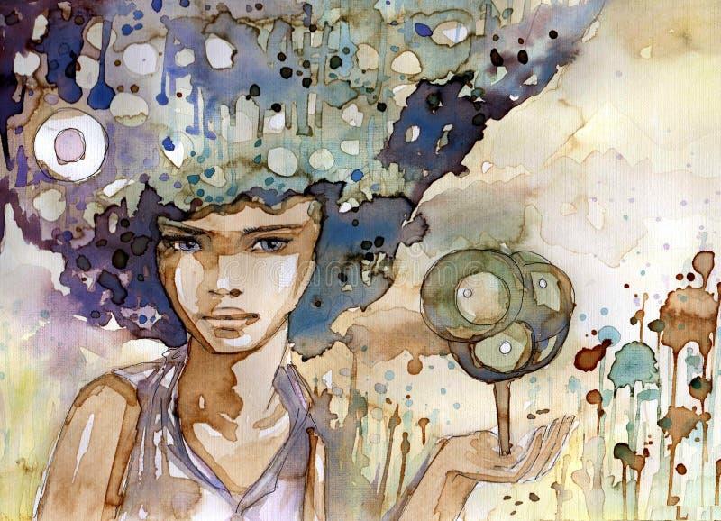 ekologia portret ilustracji