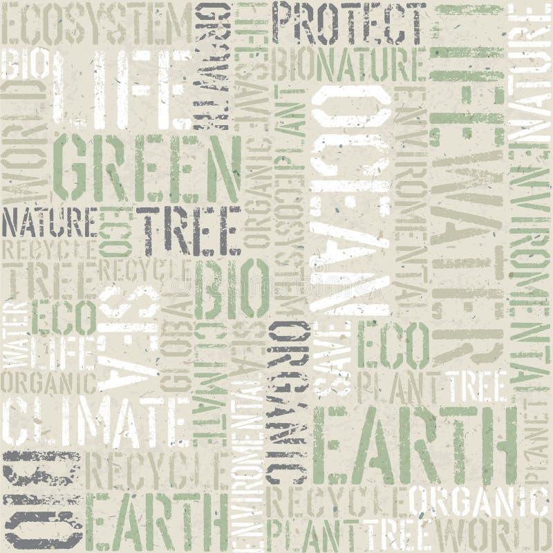 Ekologia wzór o temacie bezszwowy ilustracji