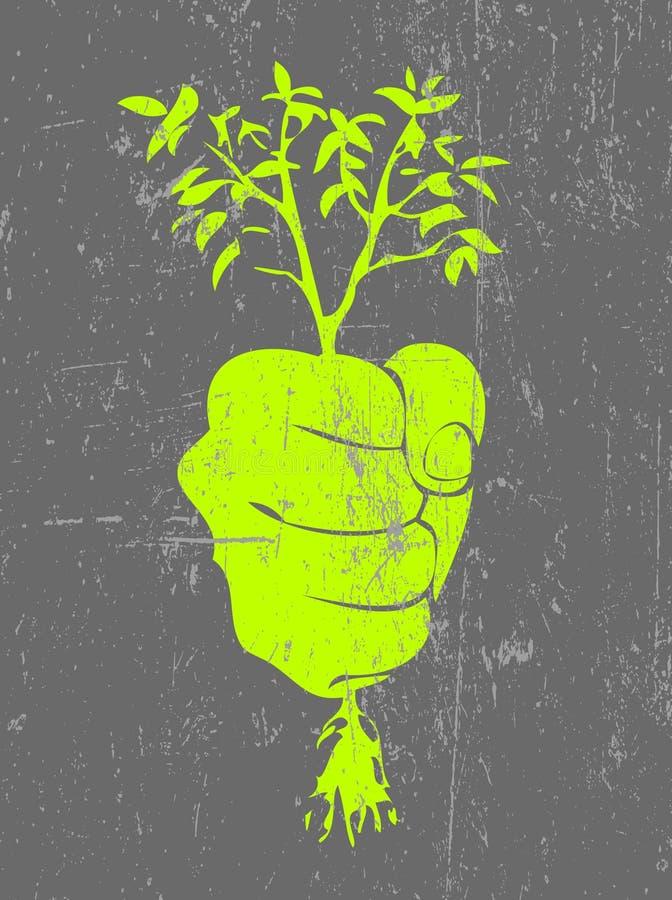 ekologiaffisch royaltyfri illustrationer