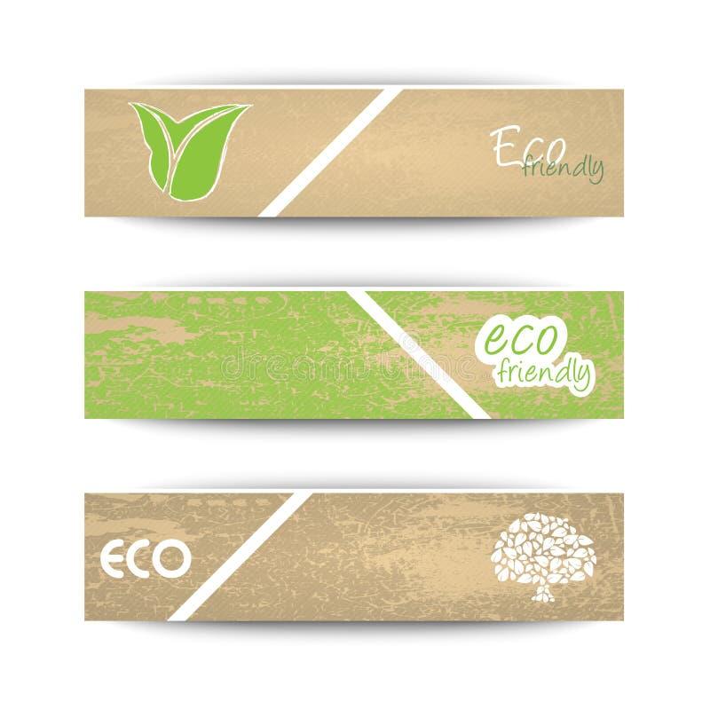Ekologibaner stock illustrationer