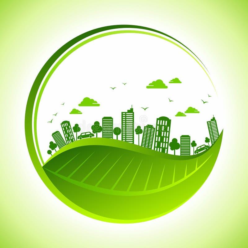 Ekologibegrepp - räddningjord, illustration royaltyfri illustrationer