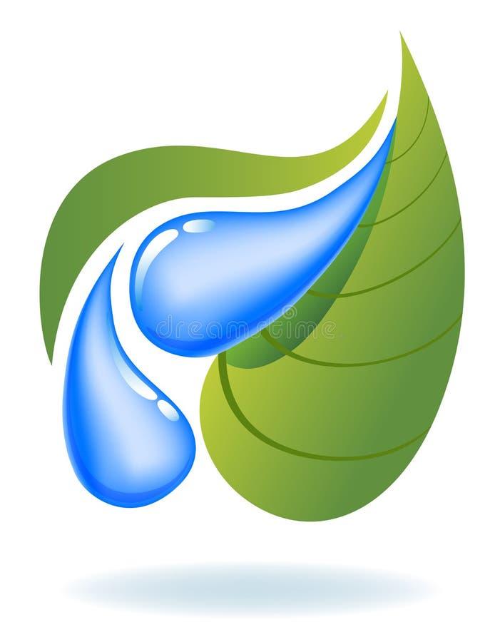 Ekologiczna ikona royalty ilustracja