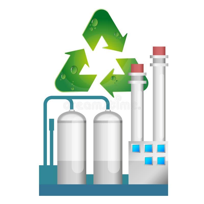 Ekologiczna przedsięwzięcie filtracja ilustracja wektor