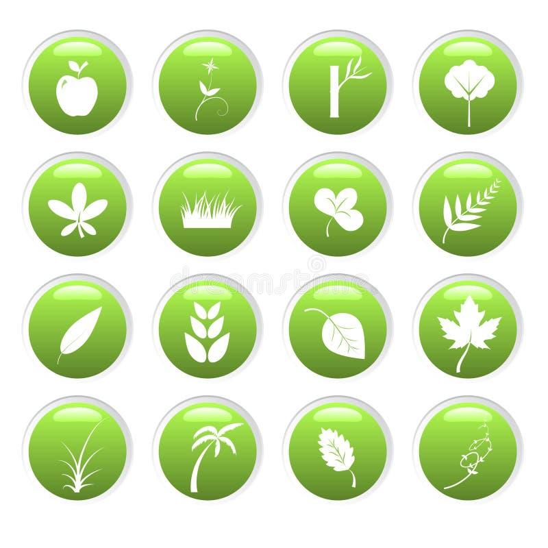 ekologiczne środowiska ikony ilustracji