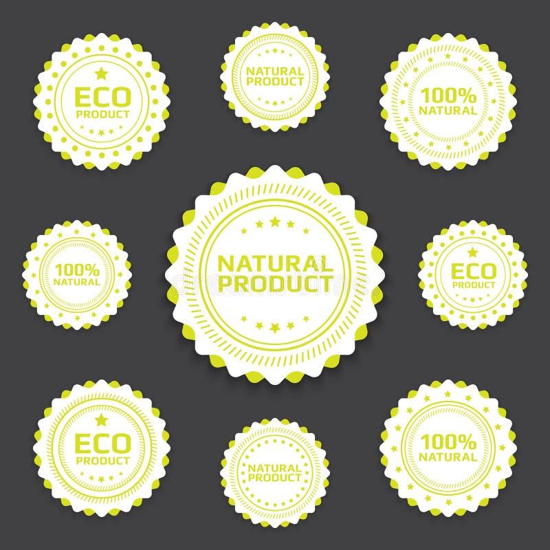 Download Ekologiczne odznaki ilustracja wektor. Obraz złożonej z naturalny - 27809390