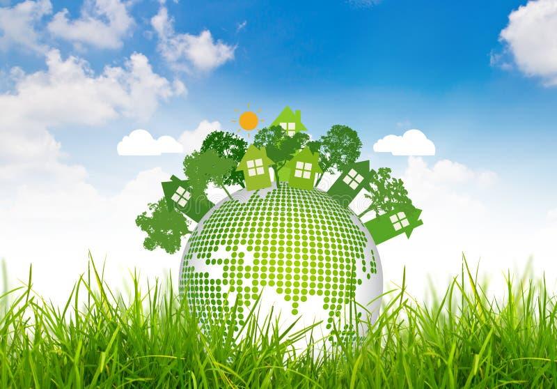 ekologicznie życzliwa planeta royalty ilustracja