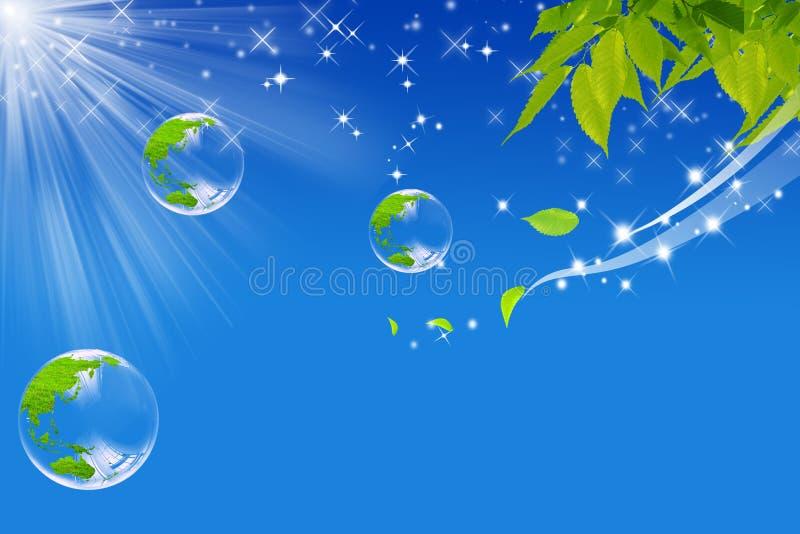 ekologiczny świat ilustracja wektor