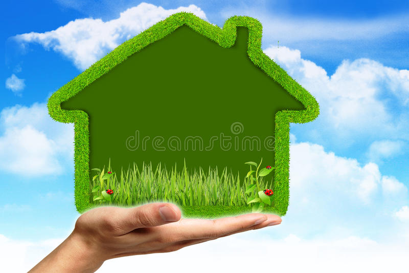 ekologiczny dom royalty ilustracja