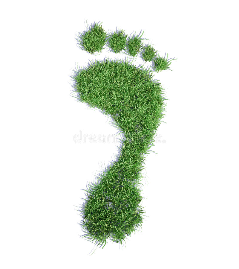 ekologiczny pojęcie odcisk stopy royalty ilustracja