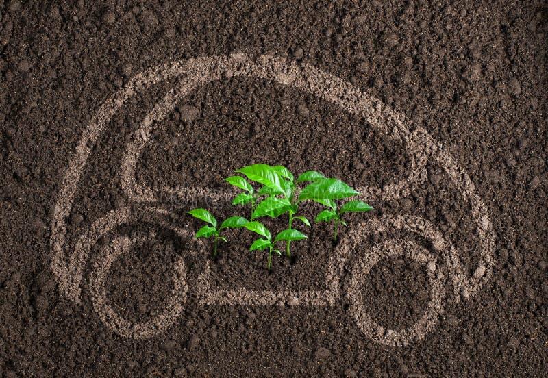 Ekologiczny transportu lub samochodu pojęcie obraz stock