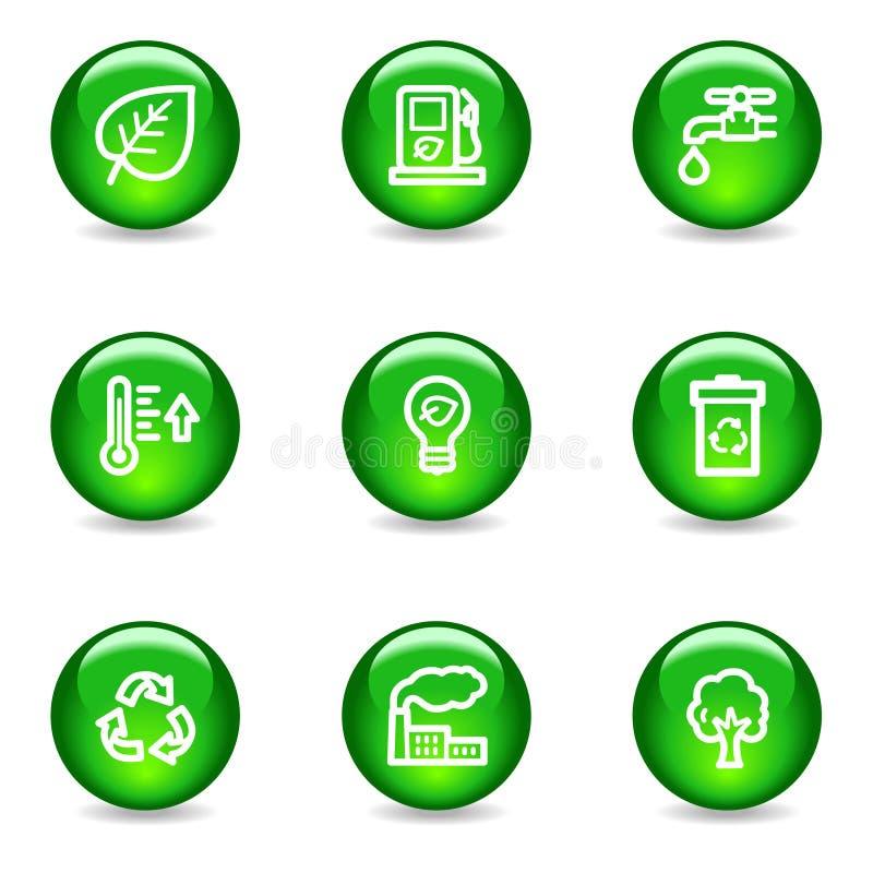 ekologii ikon sieć ilustracji