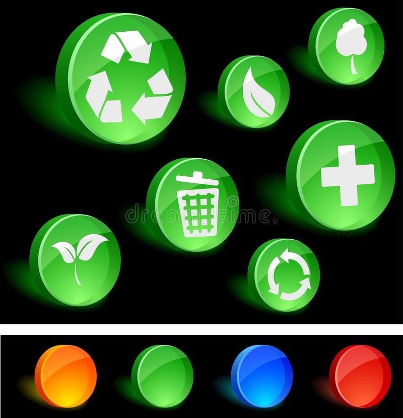 ekologii ikony ilustracji