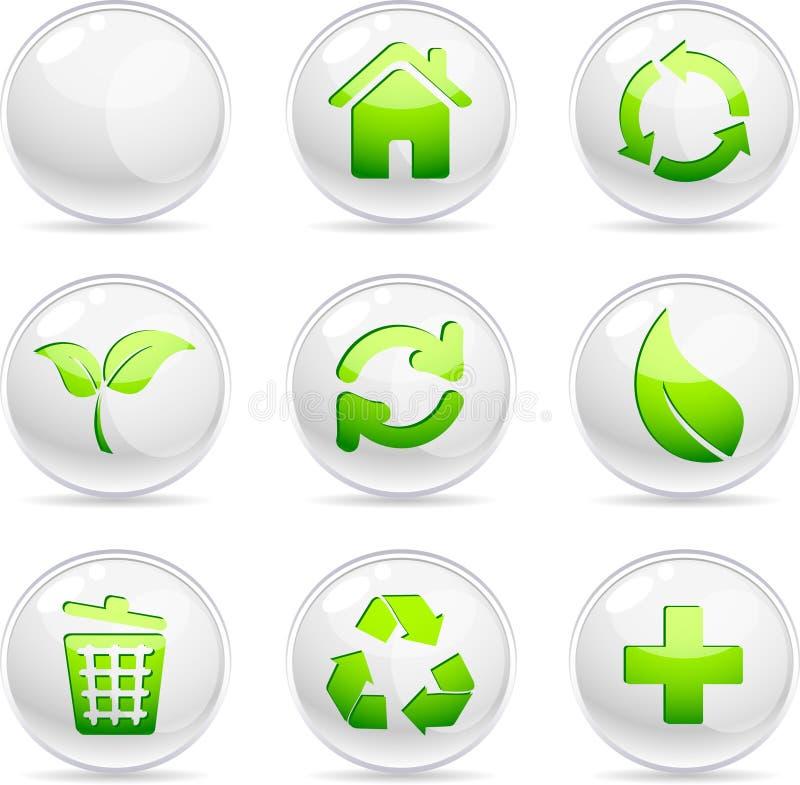 ekologii ikony ilustracja wektor