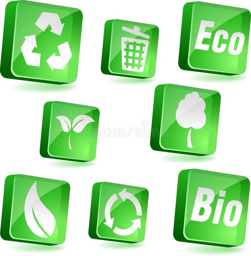 ekologii ikony royalty ilustracja