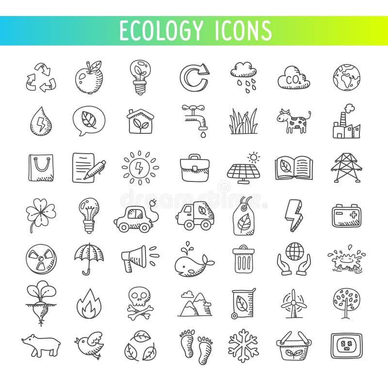 ekologii ikony ustawiać wektor obraz royalty free