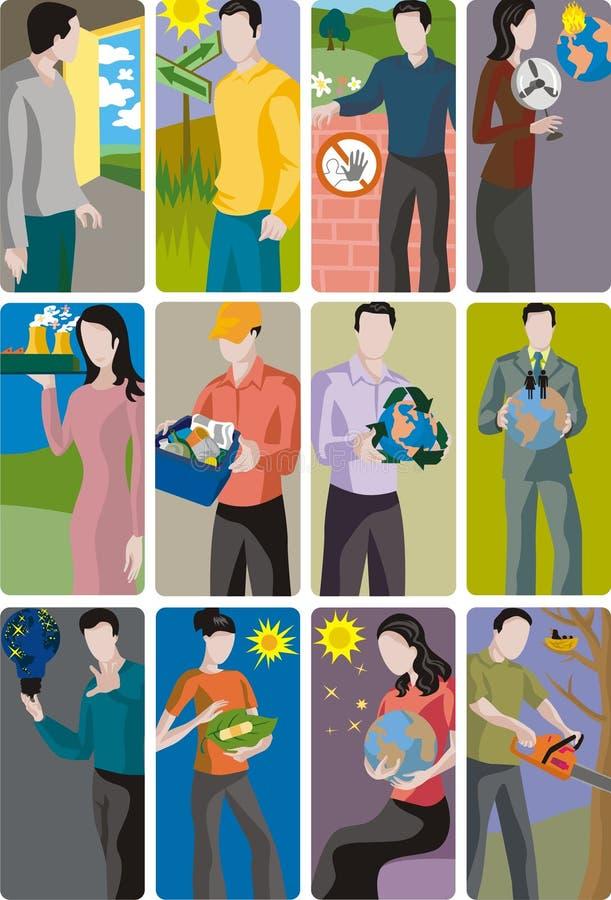 ekologii ilustraci set ilustracja wektor
