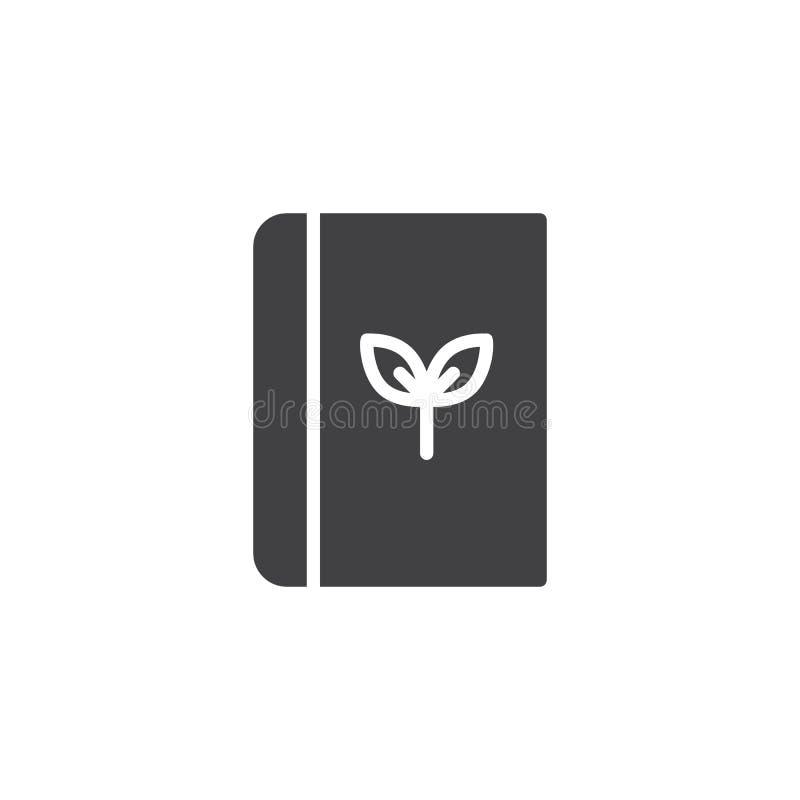 Ekologii książkowa wektorowa ikona ilustracji