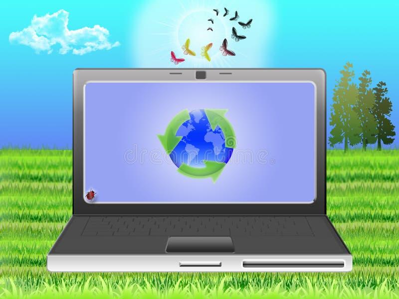 ekologii nootebook ilustracja wektor