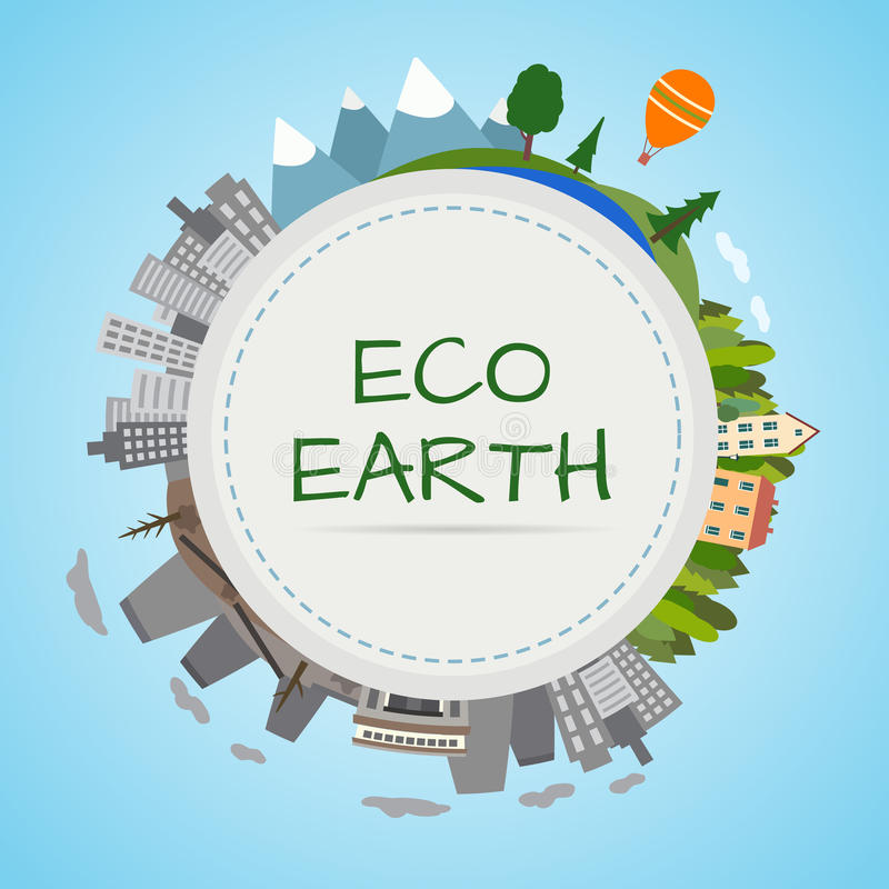 Ekologii planeta ilustracji