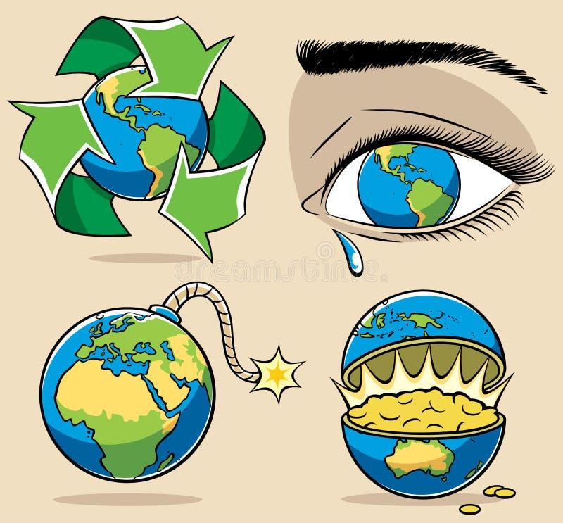 Ekologii Pojęcia ilustracja wektor