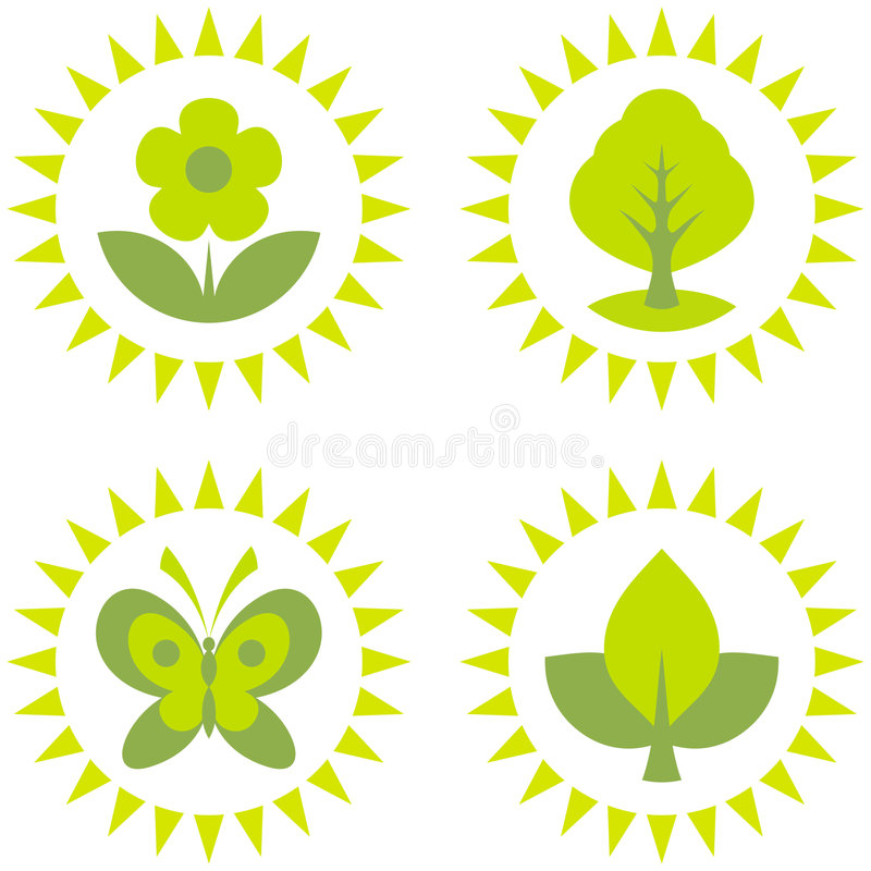 Ekologii środowiska Symbole Obraz Royalty Free