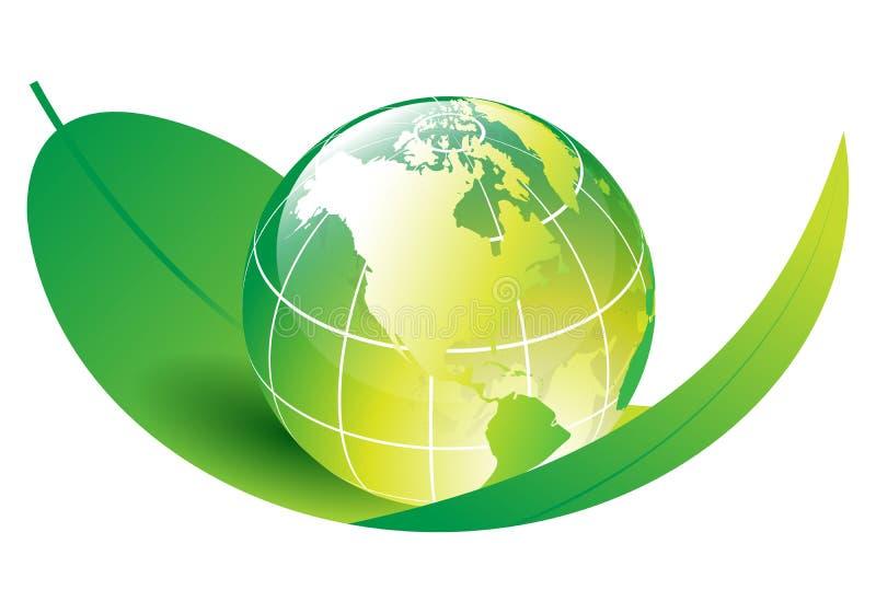 ekologijordklot royaltyfri illustrationer