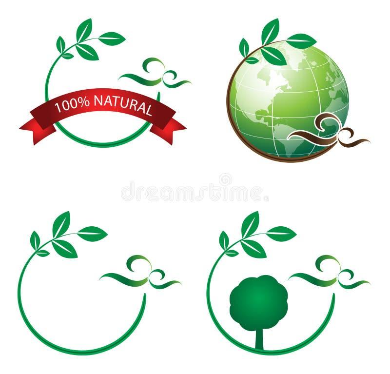 ekologilogo vektor illustrationer