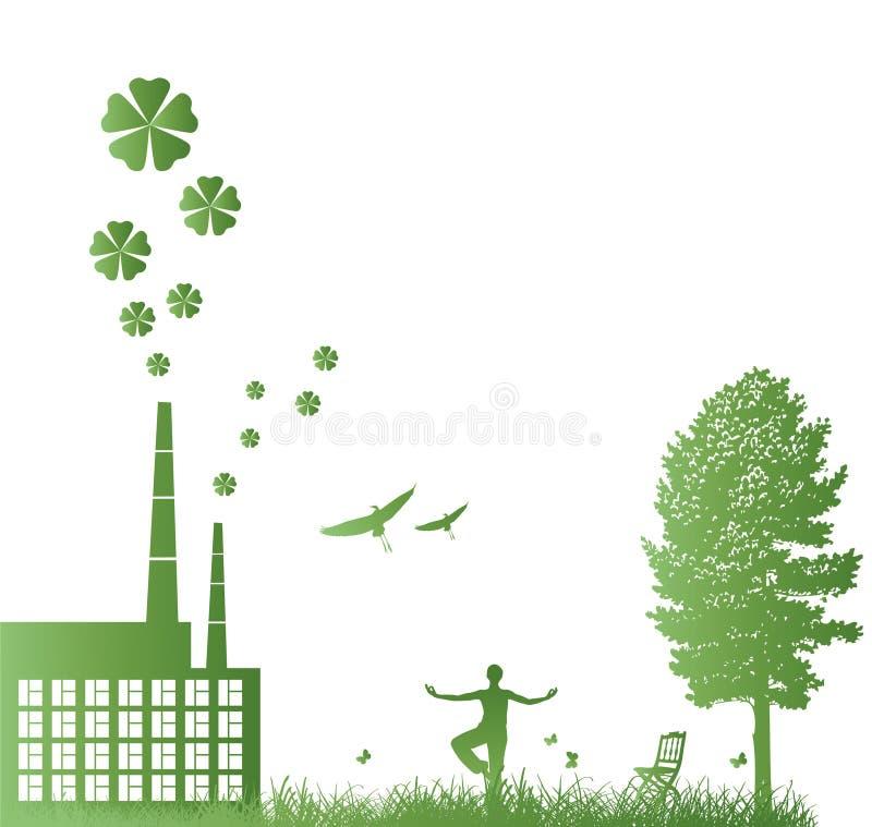 ekologiram stock illustrationer