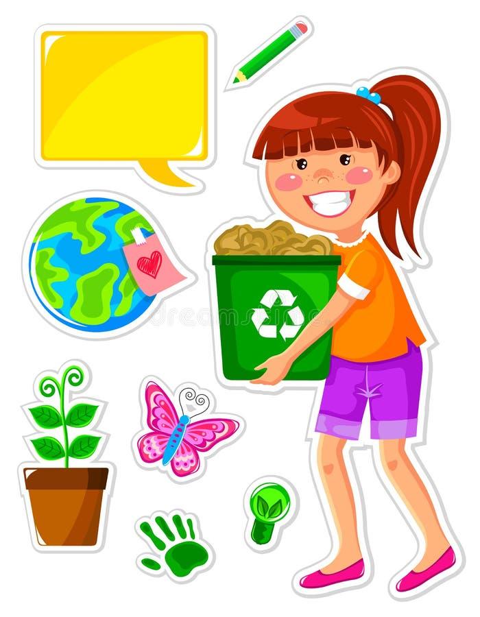 ekologiset royaltyfri illustrationer