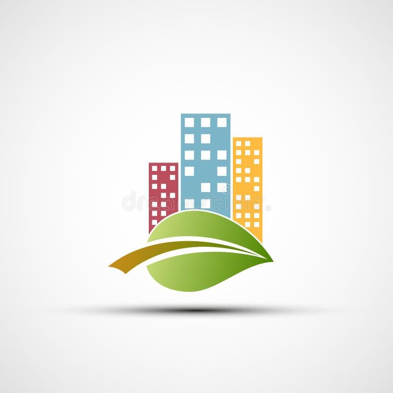 Ekologisk fastighet stock illustrationer