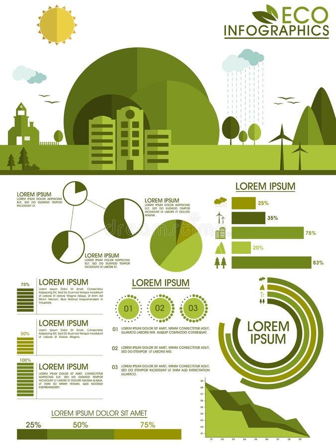 Ekologisk infographic mallorientering royaltyfri illustrationer