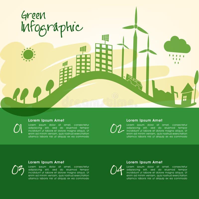 Ekologisk infographic mallorientering vektor illustrationer