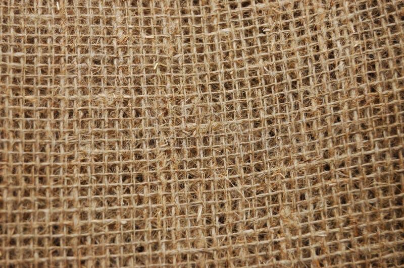 ekologisk material sackcloth royaltyfri foto