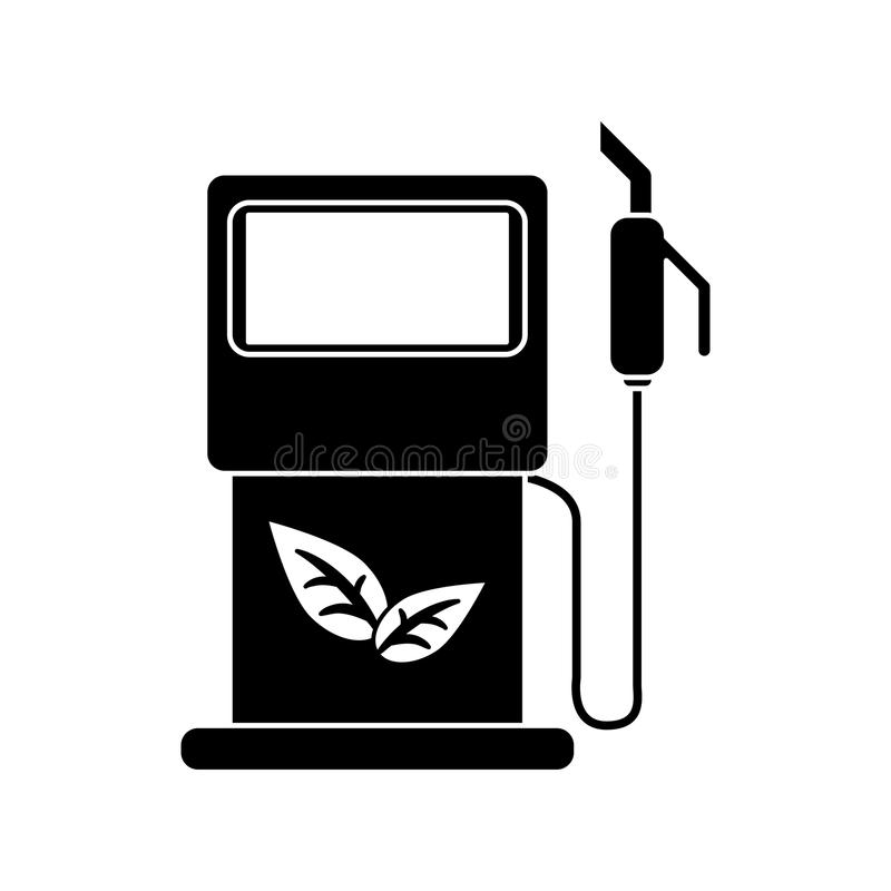Ekologisk pictogram för bensinpupmstation royaltyfri illustrationer