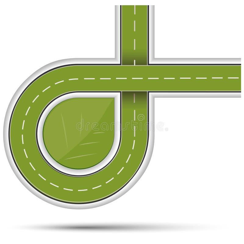 Ekologisk symbol royaltyfri illustrationer