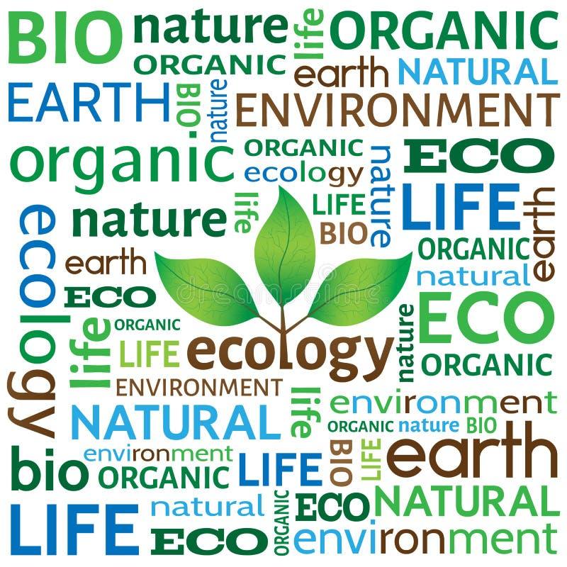 Ekologiskt eller miljö- begrepp eller bakgrund vektor illustrationer