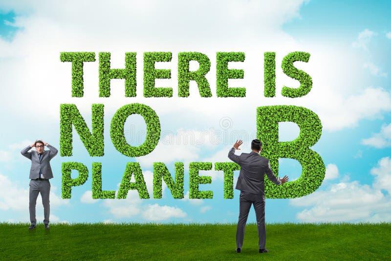 Ekologiskt koncept - det finns ingen planet b royaltyfri foto